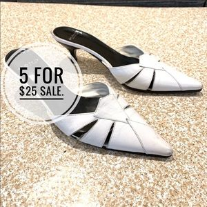 Mano : white mules in size 6.5